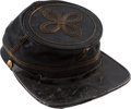 "Military & Patriotic:Civil War, Civil War Officer's Cap Embossed ""Green and Green, Louisville, Kentucky"" in the crown...."