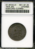 Bust Quarters: , 1818 25C--Scratched, Cleaned--ANACS. XF Details, Net VF20. B-2, R.1. Star 13 repunched. Light gray surfaces display a few o...