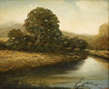 Fine Art - Painting, American:Other , CROY. River Landscape. Oil on board. Signed to lower right.8in. x 10in.. ...