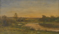 Paintings, HARVEY YOUNG (American, 1840-1901). Landscape. Oil on canvas. Signed to lower right in black. 12in. 20in.. ...