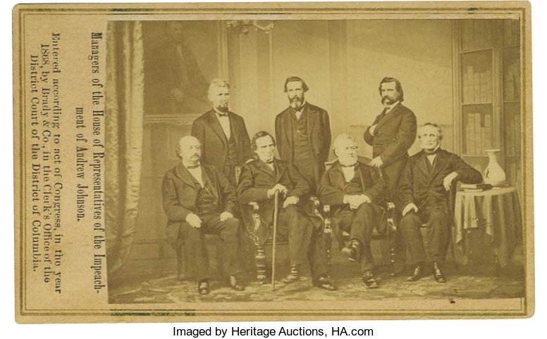 PhotographyCDVs Impeachment Of Andrew Johnson