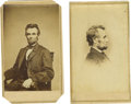 Photography:CDVs, Pair of Abraham Lincoln Cartes de Visite. The first CDV is another fine example of #O-84, taken by Matthew Brady. This i...