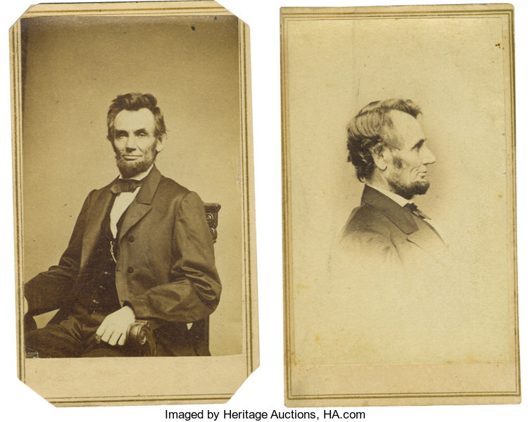 The First CDV Isanother PhotographyCDVs Pair Of Abraham Lincoln Cartes De Visite