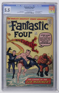 Silver Age (1956-1969):Superhero, Fantastic Four #4 (Marvel, 1962) CGC FN- 5.5 Off-white to white pages....