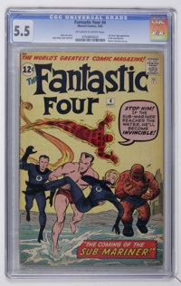 Fantastic Four #4 (Marvel, 1962) CGC FN- 5.5 Off-white to white pages