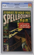 "Golden Age (1938-1955):Horror, Spellbound #9 Davis Crippen (""D"" Copy) pedigree (Atlas, 1952) CGCVF- 7.5 Off-white pages...."