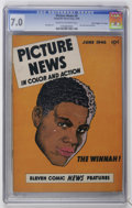 """Golden Age (1938-1955):Non-Fiction, Picture News #6 Davis Crippen (""""D"""" Copy) pedigree (Lafayette StreetCorp., 1946) CGC FN/VF 7.0 Cream to off-white pages...."""