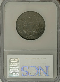 1787 1C Massachusetts Cent, Arrows in Left Talon--Corroded--NCS. AU Details. Ryder 3-G, R.3. This evenly struck example...