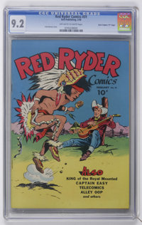 "Red Ryder Comics #31 Davis Crippen (""D"" Copy) pedigree (Dell, 1946) CGC NM- 9.2 Off-white to white pages"