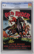 """Golden Age (1938-1955):Western, Red Ryder Comics #30 Davis Crippen (""""D"""" Copy) pedigree (Dell, 1946) CGC NM- 9.2 Off-white to white pages...."""