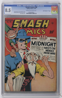 "Smash Comics #48 Davis Crippen (""D"" Copy) pedigree (Quality, 1943) CGC VF+ 8.5 Cream to off-white pages"