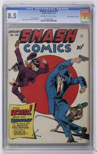 "Smash Comics #49 Davis Crippen (""D"" Copy) pedigree (Quality, 1944) CGC VF+ 8.5 Off-white to white pages"