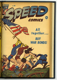 Speed Comics #36-40 Bound Volume (Harvey, 1945)