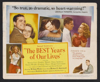 """Best Years of Our Lives (RKO, 1946). Title Lobby Card (11"""" X 14""""). Drama. Starring Myrna Loy, Fredric March, D..."""