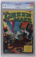 "Golden Age (1938-1955):Superhero, Green Mask #10 Davis Crippen (""D"" Copy) pedigree (Fox Features Syndicate, 1944) CGC VF- 7.5 Cream to off-white pages...."