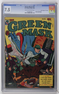 """Green Mask #10 Davis Crippen (""""D"""" Copy) pedigree (Fox Features Syndicate, 1944) CGC VF- 7.5 Cream to off-white..."""