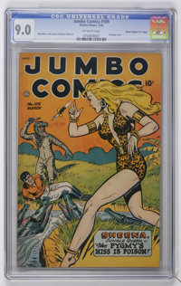 "Jumbo Comics #109 Davis Crippen (""D"" Copy) pedigree (Fiction House, 1948) CGC VF/NM 9.0 Off-white pages"