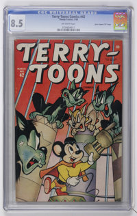 """Terry-Toons Comics #42 Davis Crippen (""""D"""" Copy) pedigree (Timely, 1946) CGC VF+ 8.5 Off-white pages"""