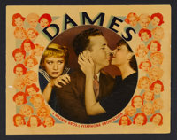 "Dames (Warner Brothers, 1934). Lobby Card (11"" X 14""). Musical Comedy. Starring Joan Blondell, Dick Powell, Ru..."
