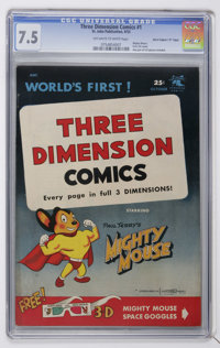 """Mighty Mouse 3-D #1 Davis Crippen (""""D"""" Copy) pedigree (St. John, 1953) CGC VF- 7.5 Off-white to white pages..."""