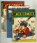 Golden Age (1938-1955):Miscellaneous, Ace Comics Group (David McKay Publications, 1937-48). Includes issues #9 (GD+), 16 (FN/VF), 18 (VG), 20 (FN), 21 (VF), 23 (G... (17 Comic Books)