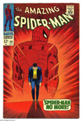 Silver Age (1956-1969):Superhero, The Amazing Spider-Man #50 (Marvel, 1967) Condition: VF. First appearance of the Kingpin. Spider-Man's origin retold. Johnny...