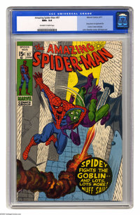 The Amazing Spider-Man #97 (Marvel, 1971) CGC NM+ 9.6 Off-white pages. Green Goblin cover appearance. Issue not approved...