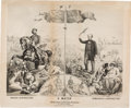 Political:Posters & Broadsides (pre-1896), Seymour & Blair: One of the Best 19th Century Cartoon-Type Political Posters....