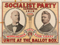Political:Posters & Broadsides (1896-present), Debs & Seidel: Colorful, Bold, Large Jugate Poster for the 1912Socialist Party Candidates. ...