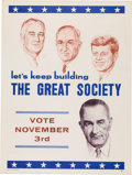 Political:Posters & Broadsides (1896-present), Lyndon B. Johnson: Great Society Poster with John F. Kennedy....