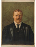 Political:Textile Display (1896-present), Theodore Roosevelt: Full Color Canvas Portrait Banner....