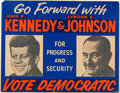 Political:Posters & Broadsides (1896-present), Kennedy & Johnson: Rare Day-Glo Jugate Poster....