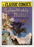 Golden Age (1938-1955):Classics Illustrated, Classic Comics #12 Rip Van Winkle and the Headless Horseman(Gilberton, 1943) Condition: FN-. Original edition, 64 pages. Ov...