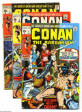 Bronze Age (1970-1979):Miscellaneous, Conan the Barbarian #2-8 Group (Marvel, 170-71) Condition: AverageFN-. Seven-issue lot includes #2, 3 (low distribution in ... (7Comic Books)