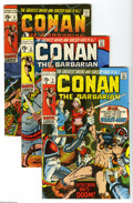 Bronze Age (1970-1979):Miscellaneous, Conan the Barbarian #2-35 Group (Marvel, 1970-73) Condition:Average VG/FN. Thirty four-issue lot includes #2, 3 (low distri...(34 Comic Books)