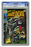 Silver Age (1956-1969):Superhero, Daredevil #54 (Marvel, 1969) CGC NM- 9.2 Cream to off-white pages. Spider-Man cameo. Gene Colan cover. Colan and George Klei...