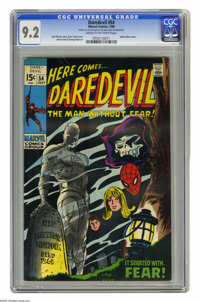 Daredevil #54 (Marvel, 1969) CGC NM- 9.2 Cream to off-white pages. Spider-Man cameo. Gene Colan cover. Colan and George...