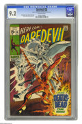 Silver Age (1956-1969):Superhero, Daredevil #56 (Marvel, 1969) CGC NM- 9.2 Off-white pages. First appearance of Death's Head. Gene Colan cover. Colan and Syd ...