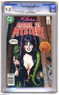Modern Age (1980-Present):Horror, Elvira's House of Mystery #1 (DC, 1986) CGC NM/MT 9.8 White pages.Joey Cavalieri and Robert Kanigher stories. Arthur Geroch...