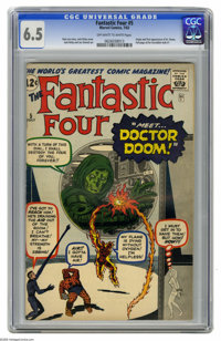 Fantastic Four #5 (Marvel, 1962) CGC FN+ 6.5 Off-white to white pages. It seems like the early issues of this title alwa...