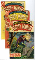 Silver Age (1956-1969):Horror, Ghost Manor Group (Charlton, 1968-71). Five-issue lot includes #1(VG+), 5 (GD), 6 (VG/FN), 7 (FN+), and 17 (FN+). Approxima... (5Comic Books)