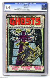 Ghosts #3 (DC, 1972) CGC NM 9.4. Nick Cardy cover. Leo Dorfman story. Tony DeZuniga, Jerry Grandenetti, and George Tuska...