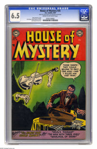 House of Mystery #25 (DC, 1954) CGC FN+ 6.5 Cream to off-white pages. Ruben Moreira cover. Moreira, Curt Swan, Bill Ely...