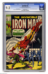 Iron Man #10 (Marvel, 1969) CGC NM- 9.2 Cream to off-white pages. Iron Man vs. Mandarin. Nick Fury appearance. George Tu...