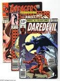 Bronze Age (1970-1979):Miscellaneous, Marvel and DC Superhero Group (Various, 1966-88). This mostlyBronze Age group includes Daredevil #158 (FN, British copy... (8Comic Books)