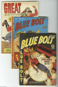 Golden Age (1938-1955):Miscellaneous, Miscellaneous Golden Age Group (Various Publishers, 1941-59) Condition: Average GD/VG. This lot of ten issues includes Blu... (10 Comic Books)