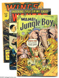 Golden Age (1938-1955):Miscellaneous, Miscellaneous Golden Age Group (Various Publishers, 1946-53). High-flying group of Golden Age books, including Wing Comics... (5 Comic Books)