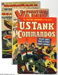 Golden Age (1938-1955):War, Miscellaneous Golden Age War Group (Various Publishers, 1948-53)Condition: Average GD/VG. Front line action is here in the ... (5Comic Books)