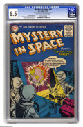 """Golden Age (1938-1955):Science Fiction, Mystery in Space #26 (DC, 1955) CGC FN+ 6.5 Light tan to off-white pages. """"Space Cabbie"""" feature begins in this issue. Gil K..."""