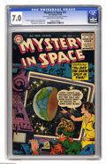 Silver Age (1956-1969):Science Fiction, Mystery in Space #31 (DC, 1956) CGC FN/VF 7.0 Cream to off-white pages. Gil Kane cover. Kane, Carmine Infantino, and Sid Gre...